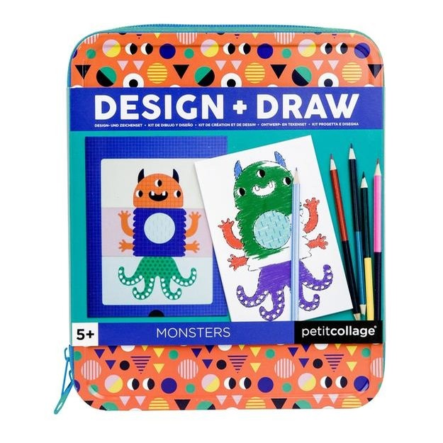 Tin Case Drawing Kits (Monsters)