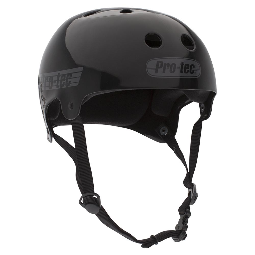 Bucky Lasek Helmet (Solid Black w/ Grey)
