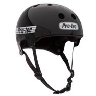 Classic Old School Helmet (Gloss Black / White)