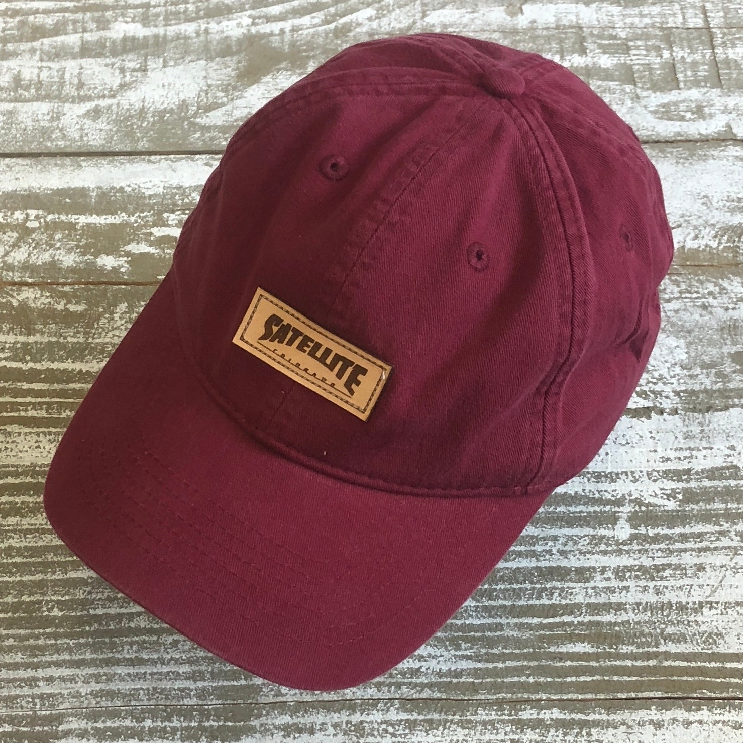 Satellite Dad Cap (ruby)
