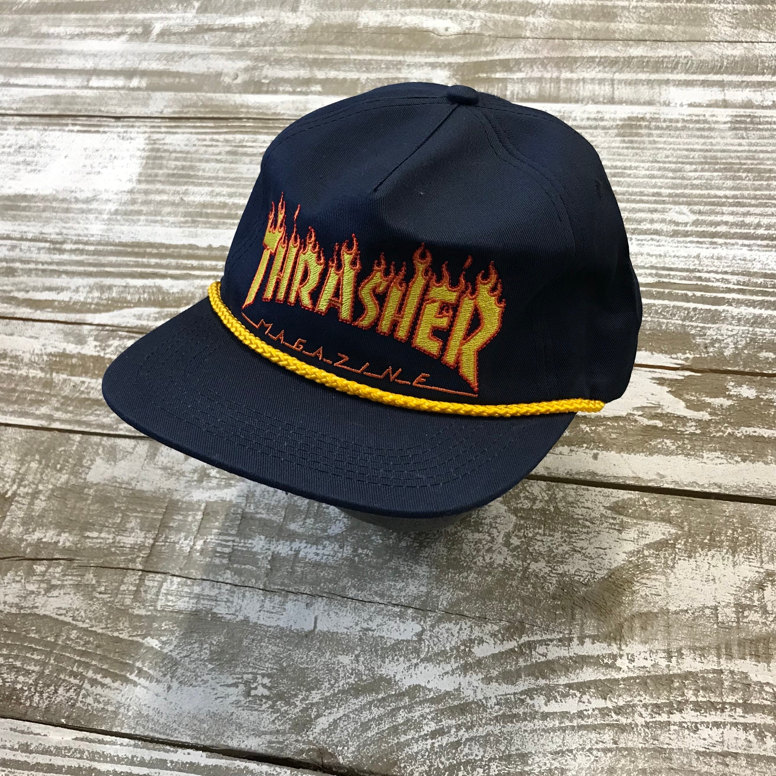 Flame Rope Snapback hat (Navy)