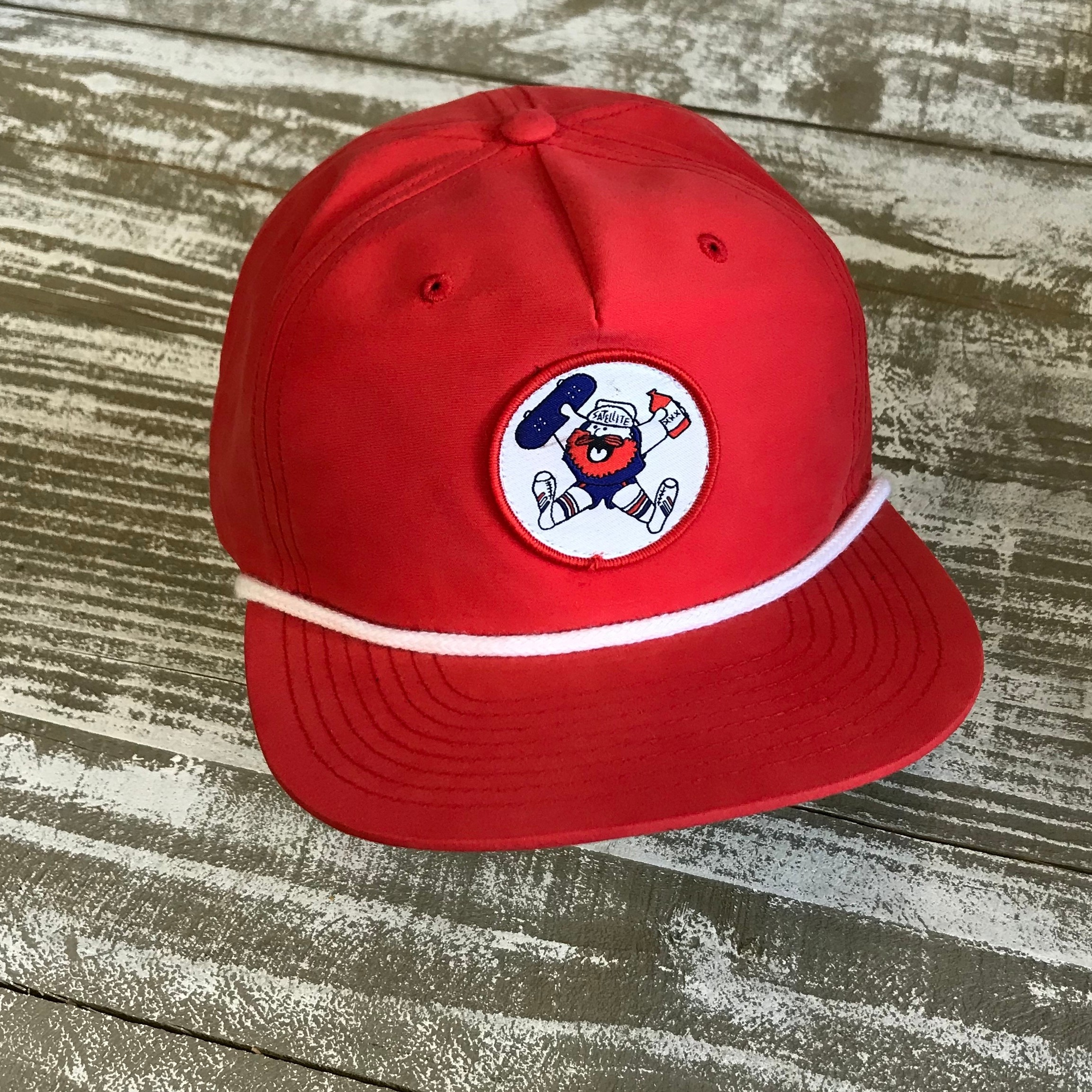 Satellite Grandpa Cap (red/party miner)