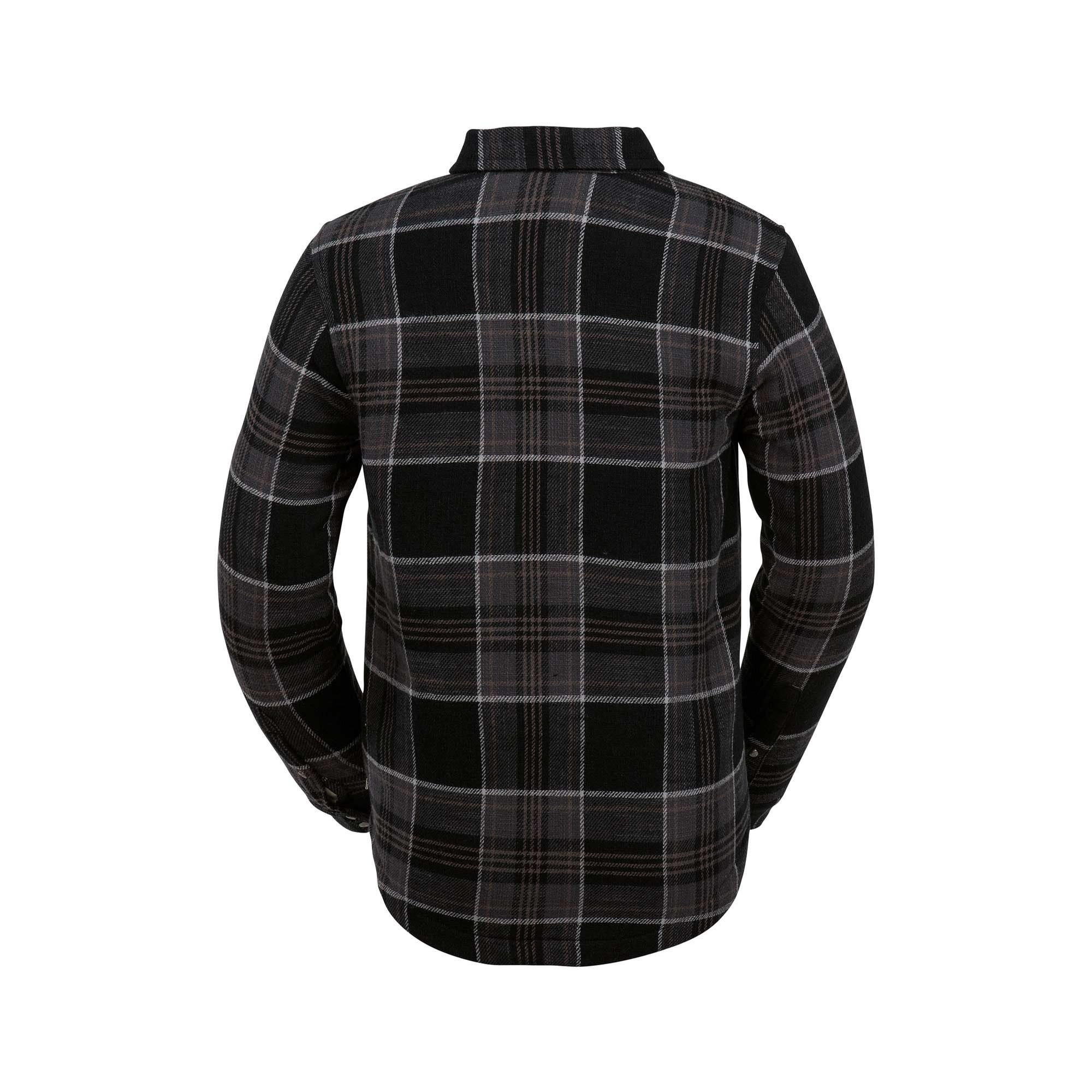 Kids Bison Insulated Flannel Jacket (Black)