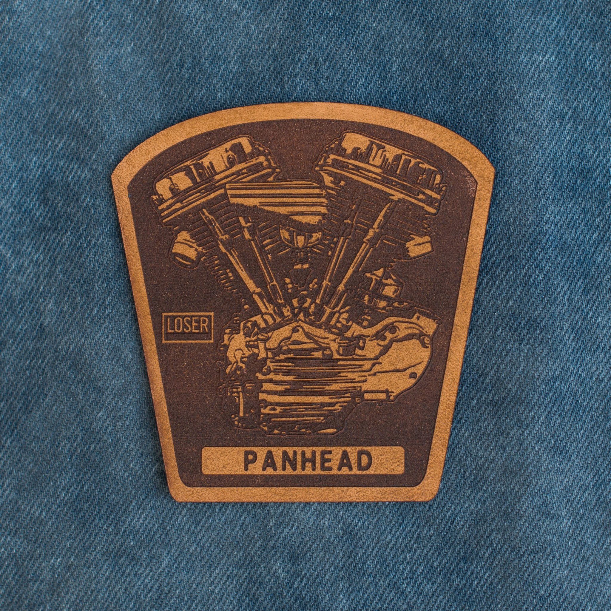 Panhead Motor Leather patch (Brown)