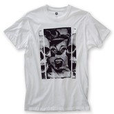DEATH POP SLIM TEE (WHITE)