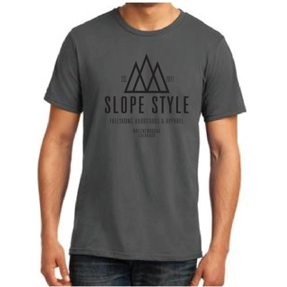 SLOPE STYLE SHOP TEE: GREY