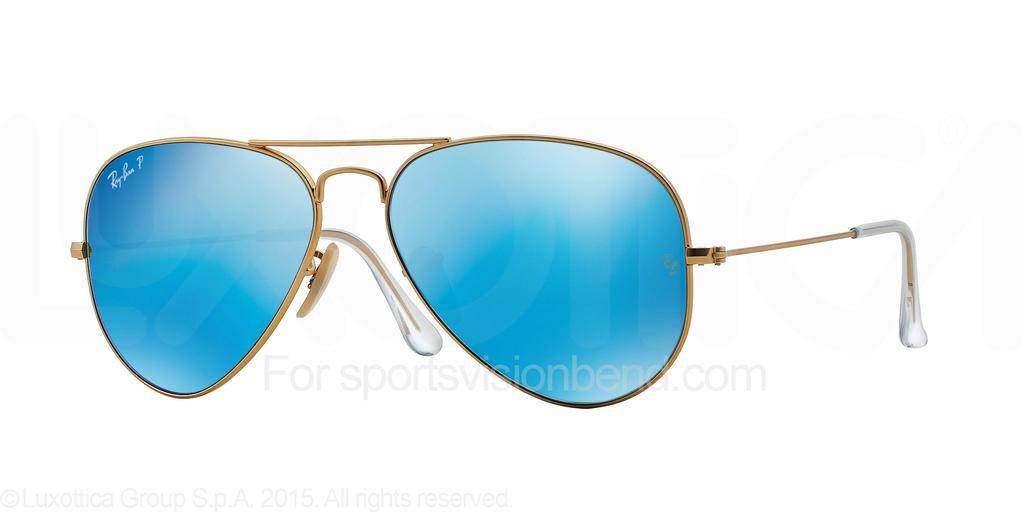 Matte Gold/ Blue Mirror Polarized