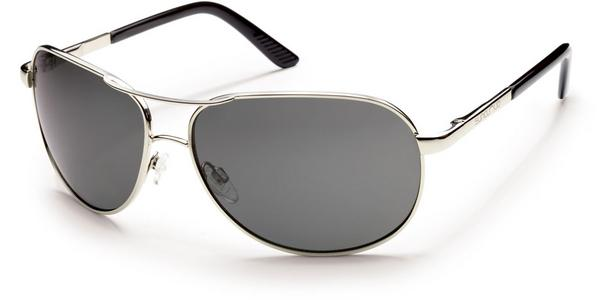 Aviator Sunglass - Silver/ Grey Polarized