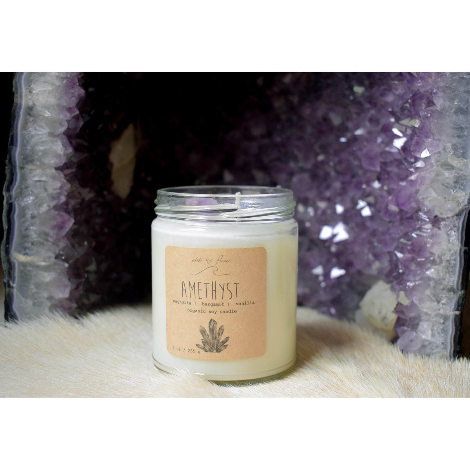 Amethyst Candle
