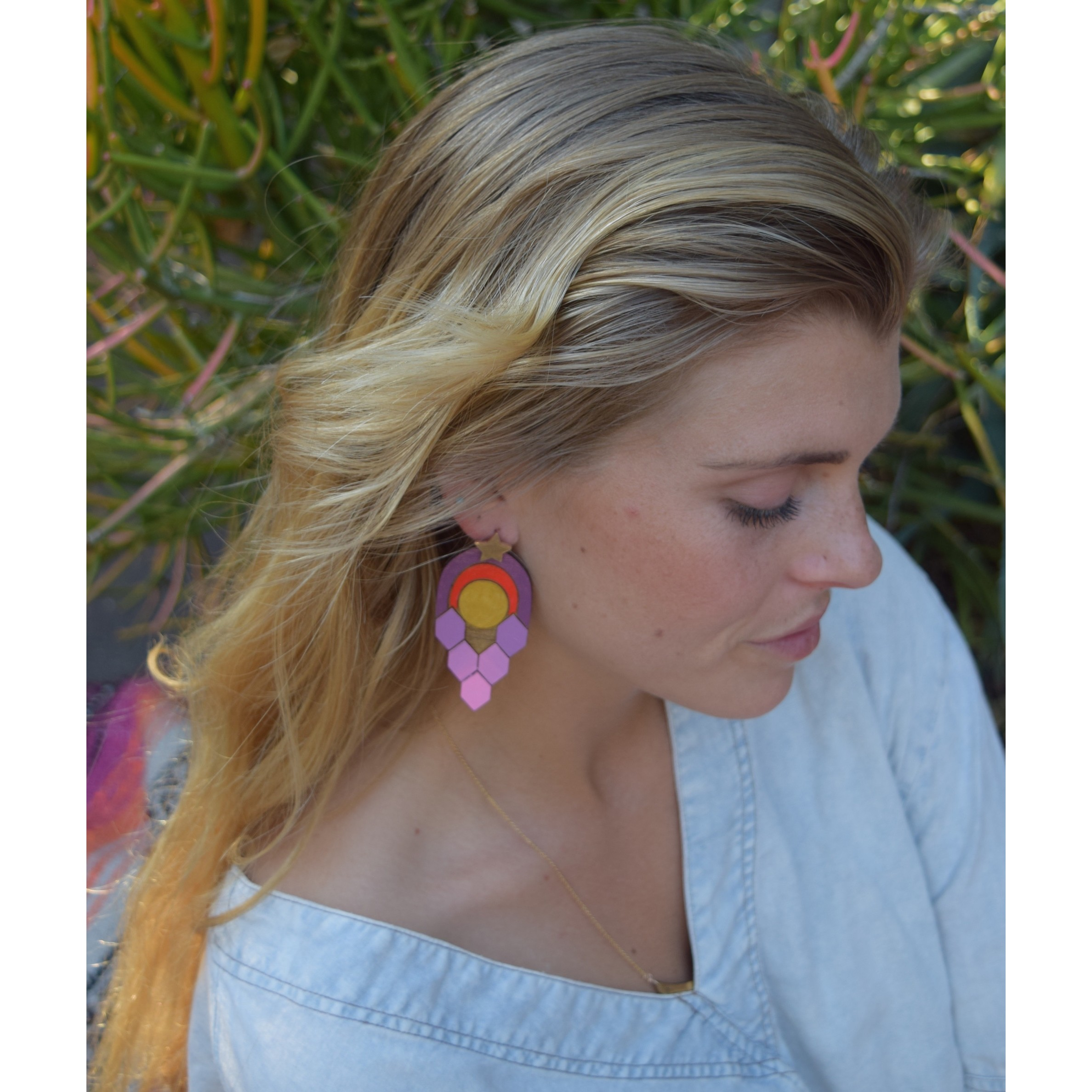 Expand Earrings - Pinks