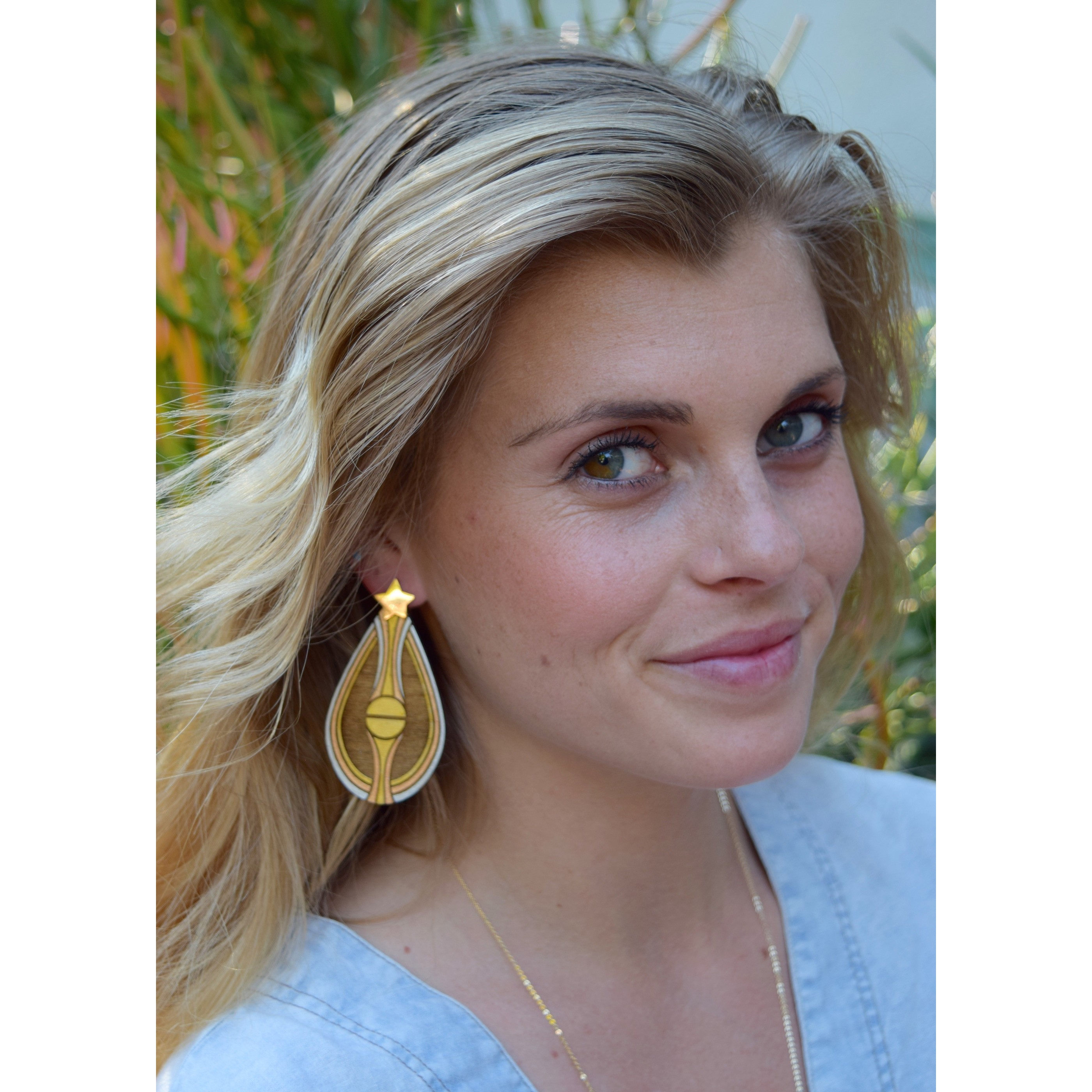 Chrysalis Earrings - Gold