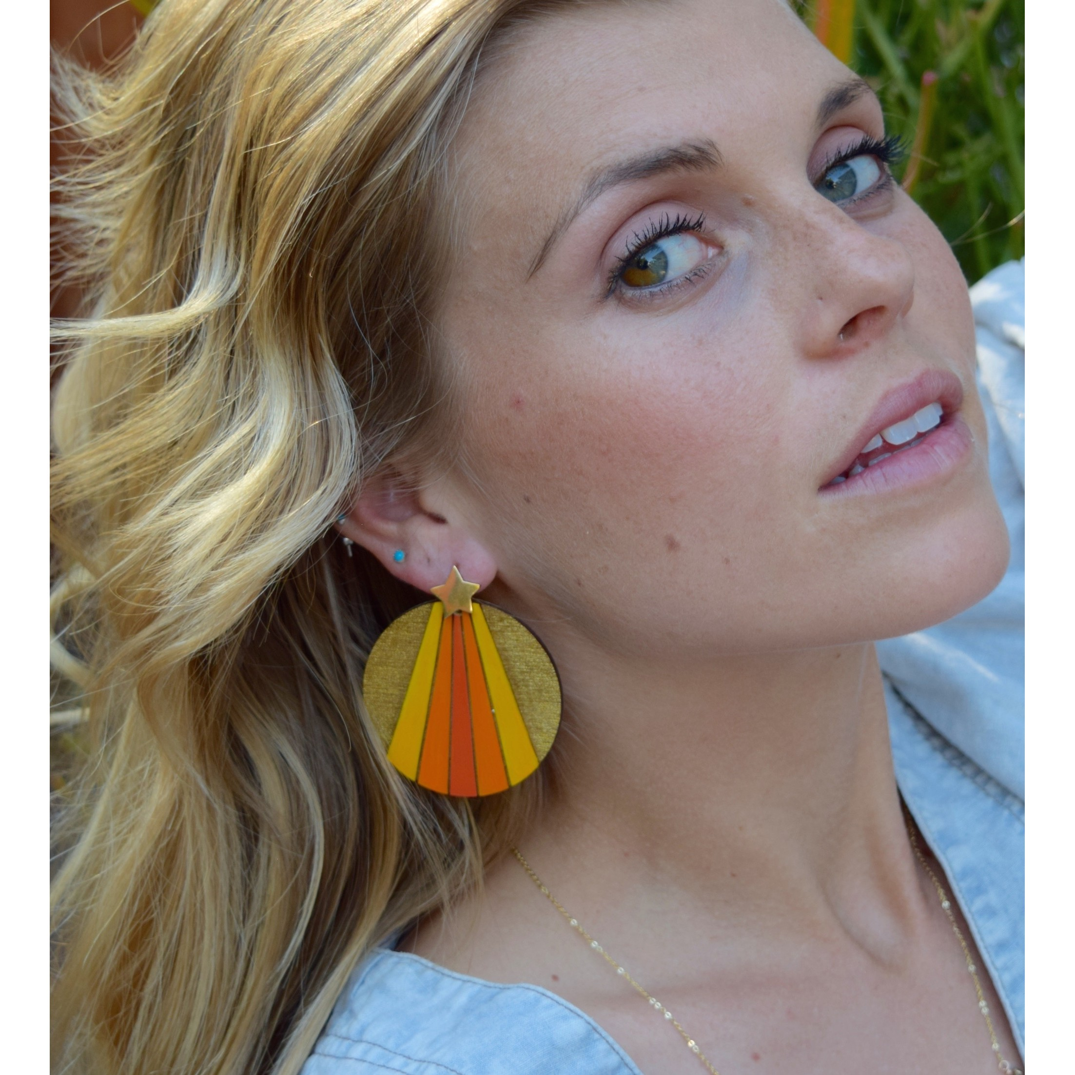 Luminate Earrings - Orange Rainbow