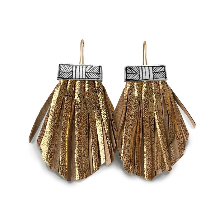 Tassel Cage Earrings