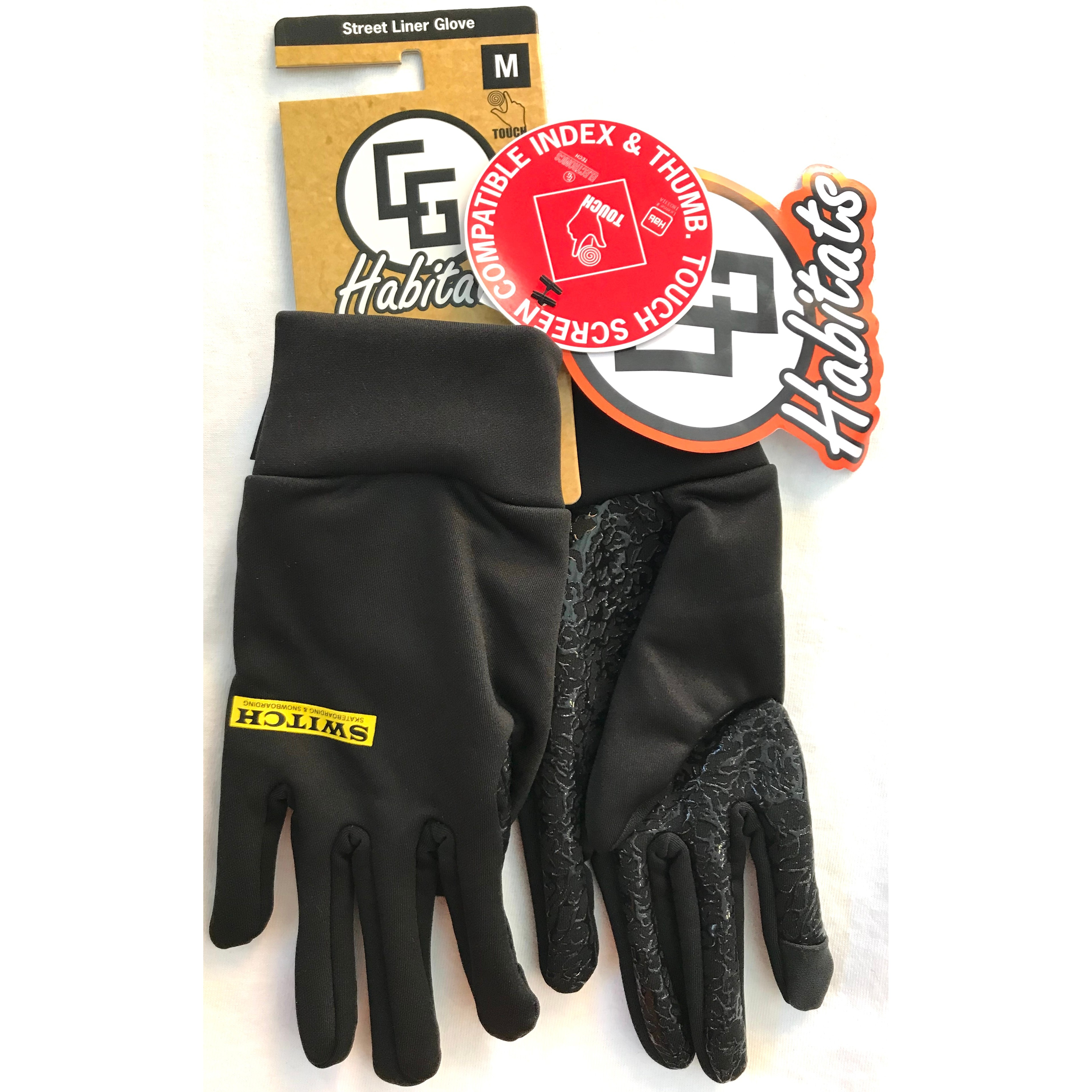 Switch Skateboarding Switch X CandyGrind Street Liner Glove (Black)