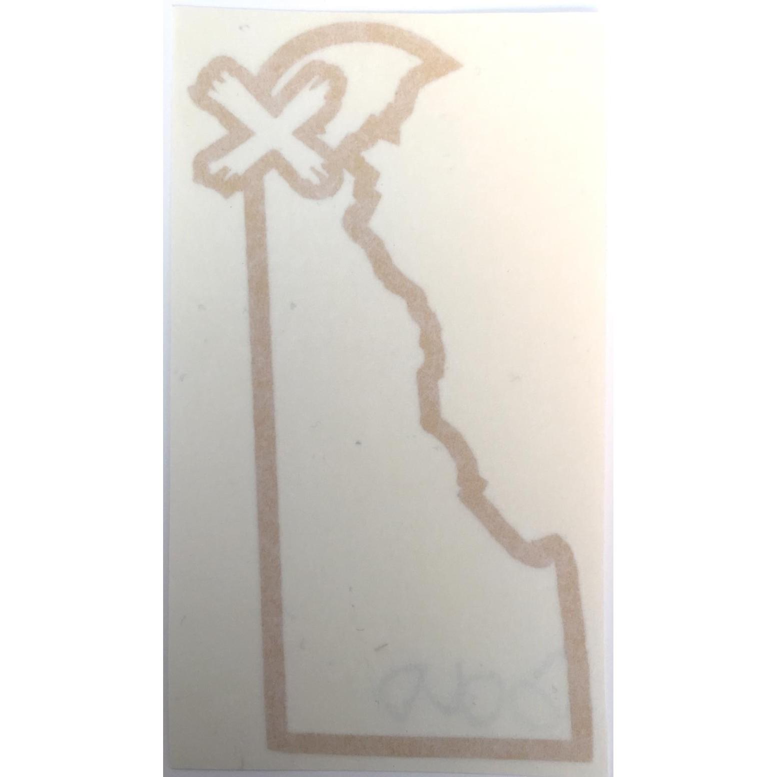 Delaware X Newark V1 4.75x2.5 Die Cut (Gold Foil)