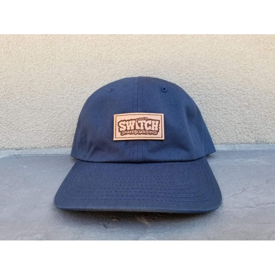 Switch Skateboarding Laser Etched Box Logo Cap (Navy)