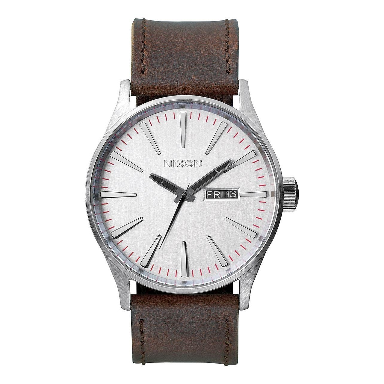 Sentry Leather (Silver/Brown)