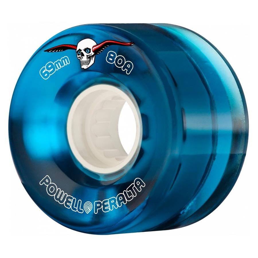 H2 Clear 69mm Cruiser Wheels (Blue)