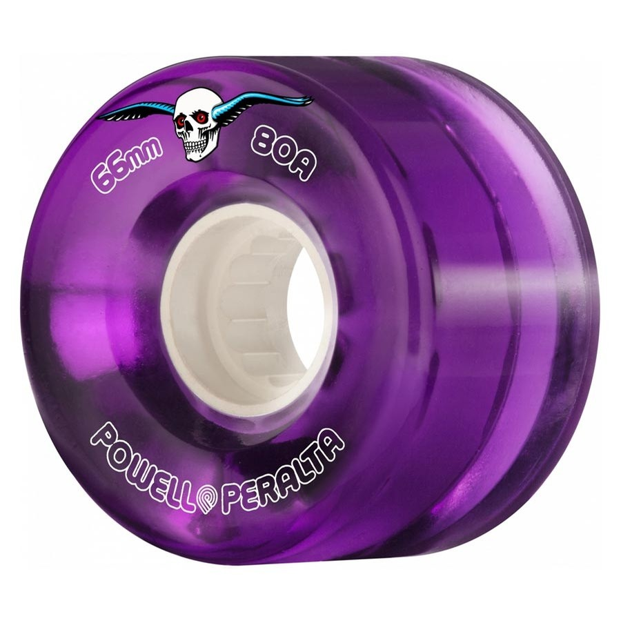 H2 Clear 69mm Cruiser Wheels (Purple)