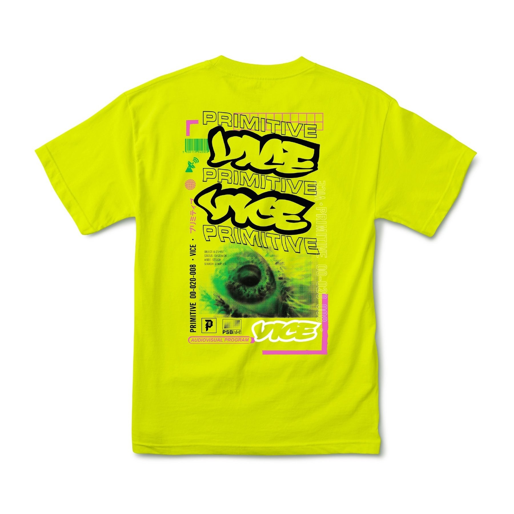 Primitive X VICE Program Tee (Safety Green)