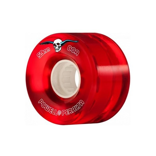 H2 Clear 69mm Cruiser Wheels (Red)