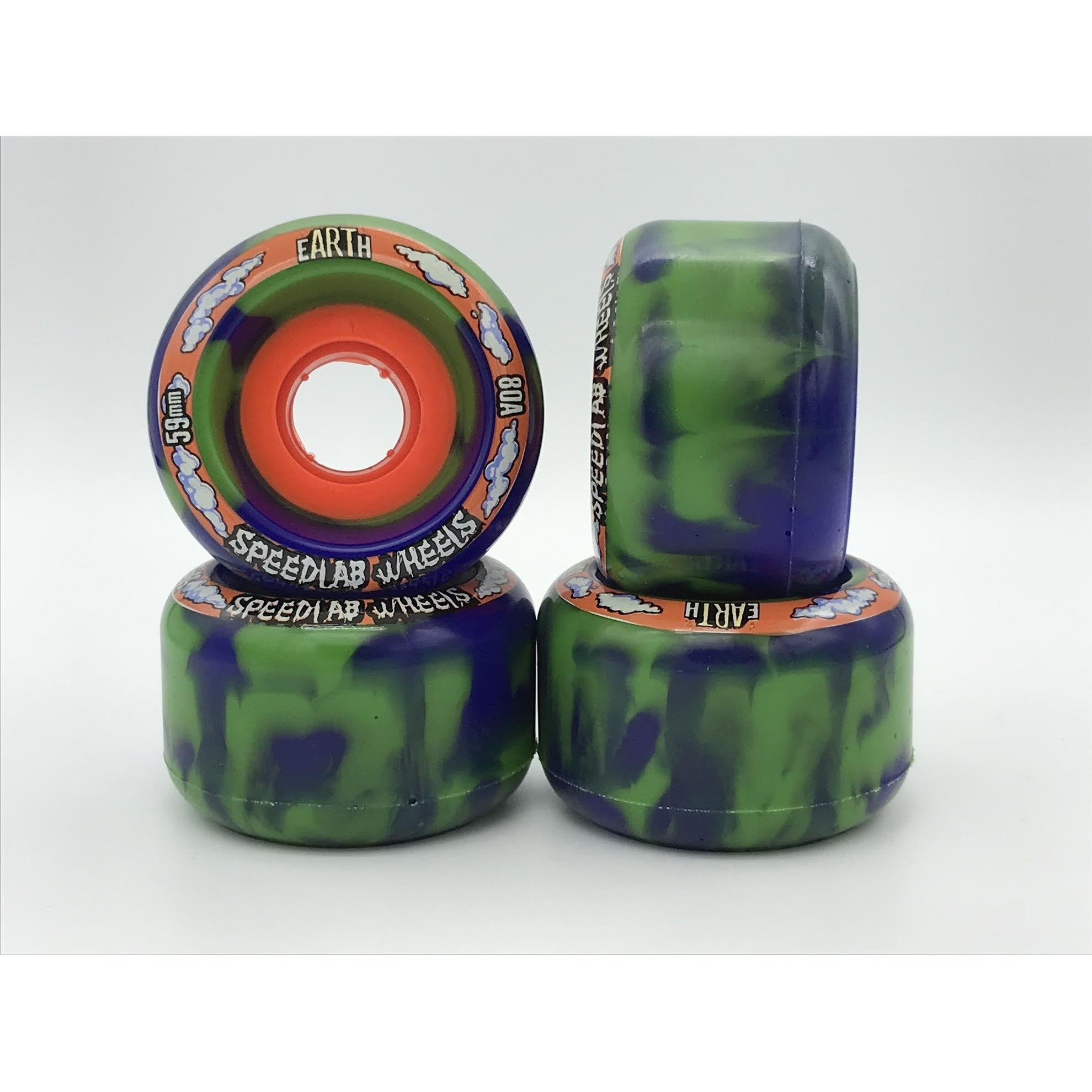 Globes 80A (Blue/Green/Swirl)