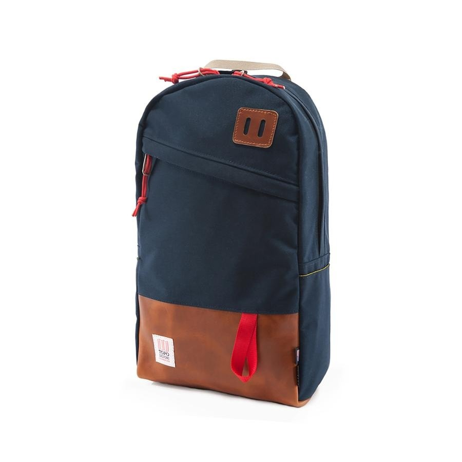 Daypack (Navy/Brown Leather)