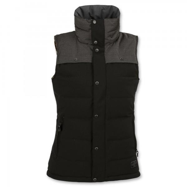 Heart Down Vest (Black)