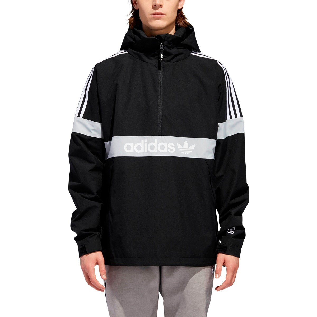 BB Snowbreaker Jacket (Black/Light Solid Grey/White)