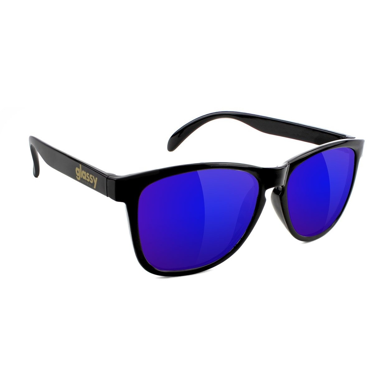 Deric Sunglasses (Black/Blue Mirror)