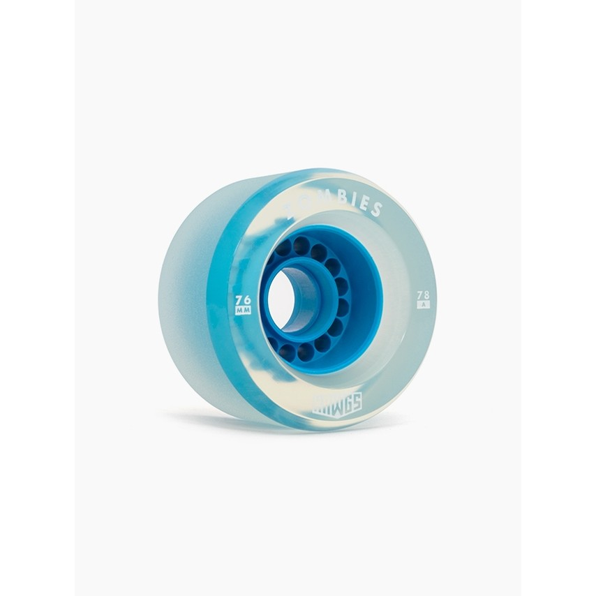 Clear Zombie Hawgs Wheels (Blue Core)