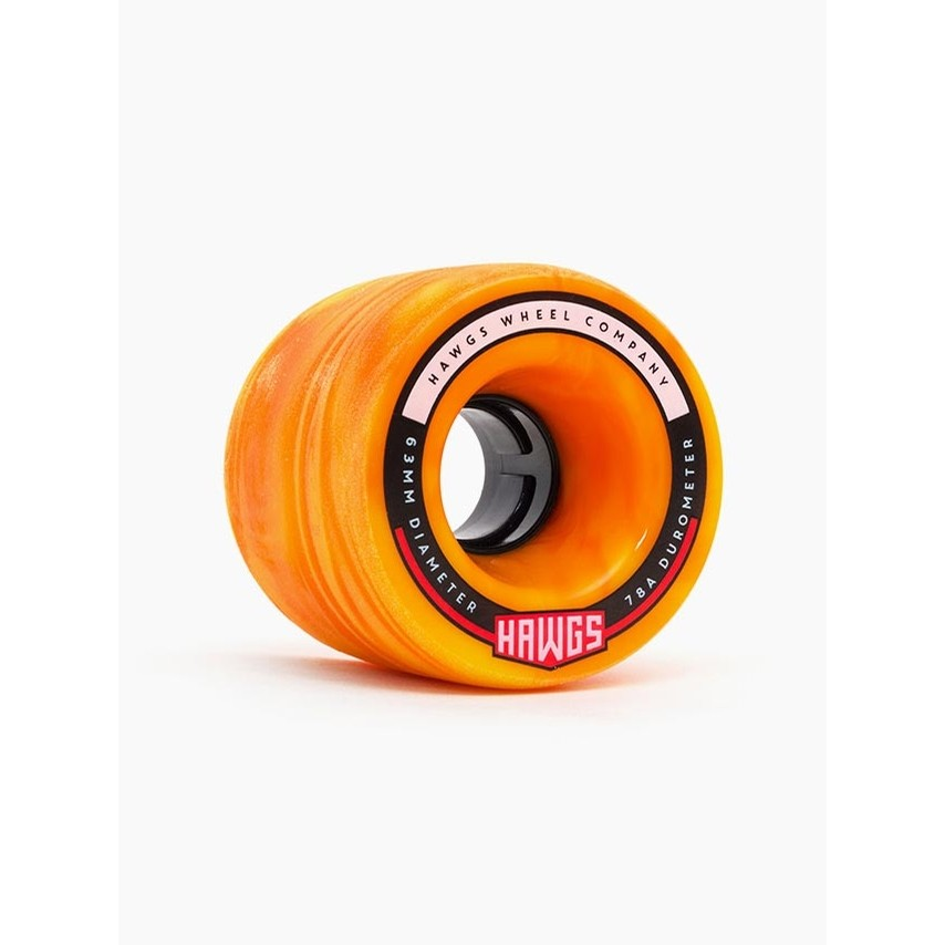 Fattie Hawgs Wheels (Orange/Yellow Swirl)