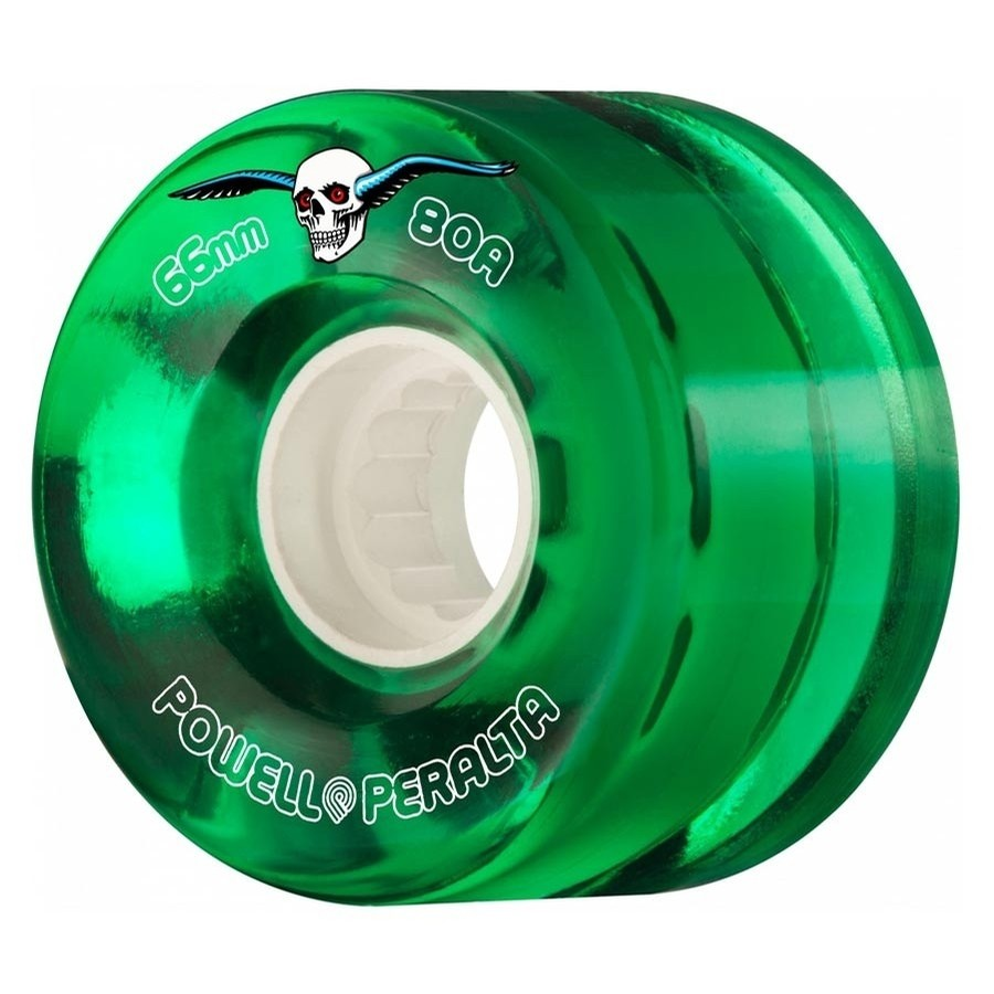H2 Clear 66mm Cruiser Wheels (Green)