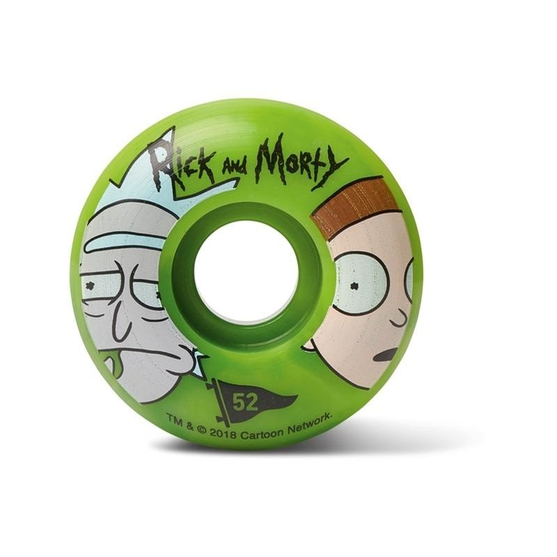 Rick and Morty Swirl Wheels (Green Swirl)
