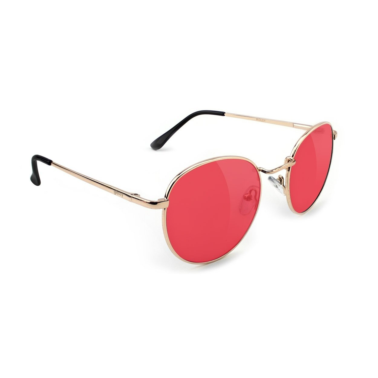 Ridley Sunglasses (Gold/Red Lens)