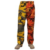 Two Tone Camo Tactical BDU Pant (Stinger Yellow/Savage Orange)