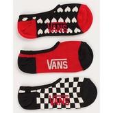 Peaked Canoodle Socks 3 Pack (Scarlet)