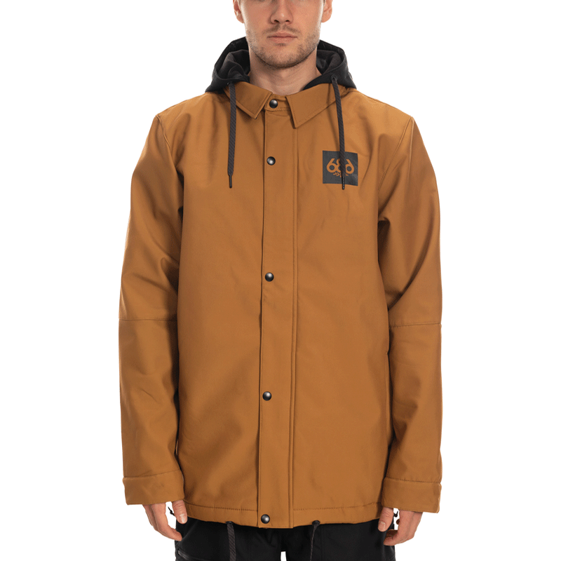 Waterproof Coaches Jacket (Golden Brown)
