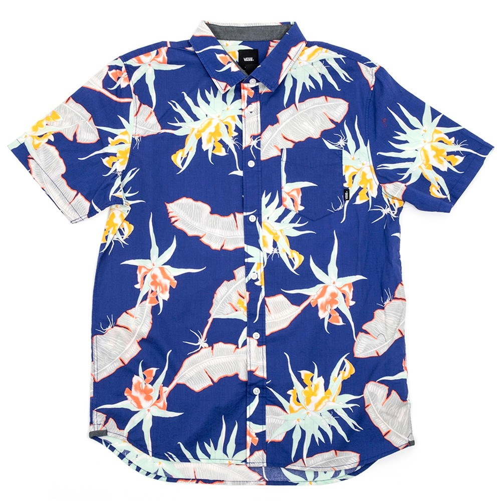 Arachnofloria S/S Button Down Shirt (Vans Purple) VBU