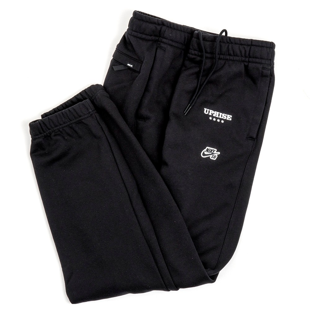 Uprise Embroidered Icon Fleece Pant (Black)