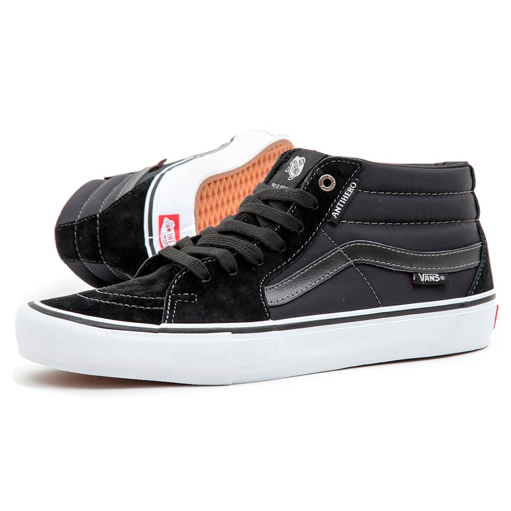 Vans Sk8 Mid Pro(Anti Hero) Grosso / Black VBU Men's Shoes at Uprise