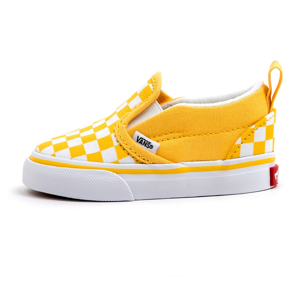 Toddler Slip-On V (Checkerboard / Aspen Gold) VBU