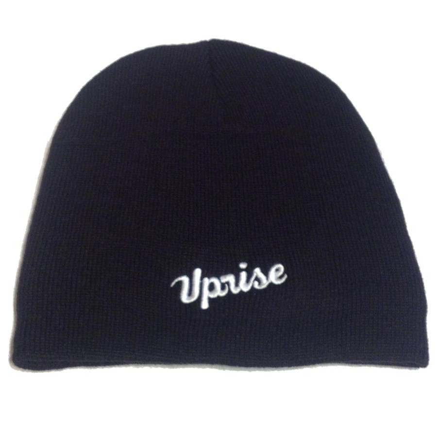 Uprise Embroidered Jamieson Cuffless Beanie (Black / White)