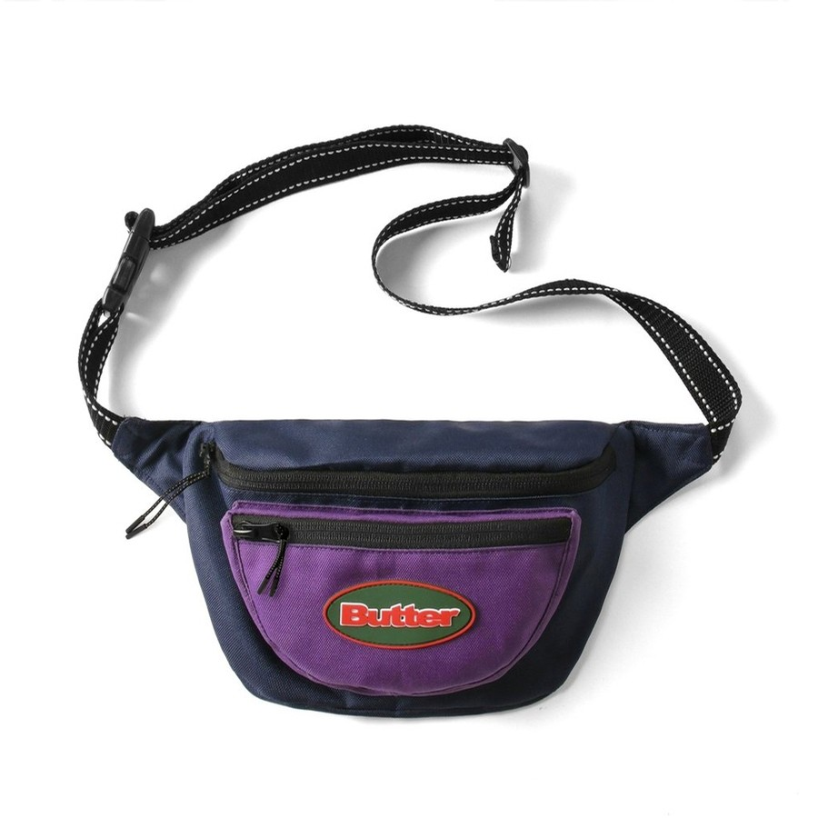 Trail Hip Pack (Navy / Purple)