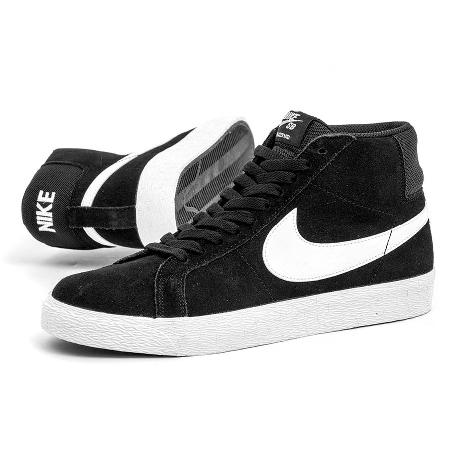 e62088e08a96a Nike SB Zoom Blazer Mid (Black   White) Men s at Uprise