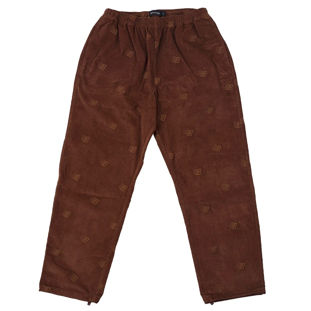 Embroidered Synch Cords (Brown)