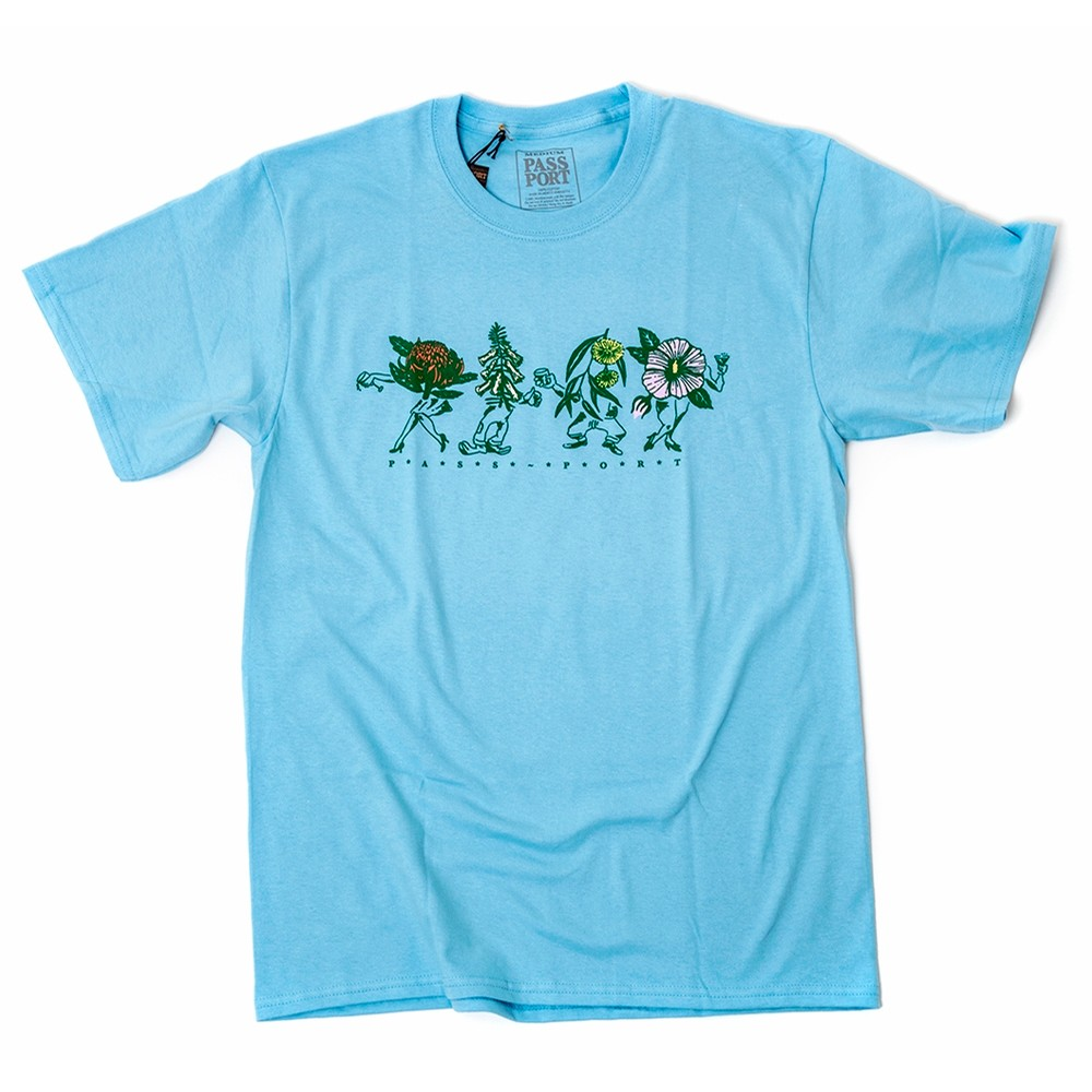 Floral Friends T-Shirt (Powder Blue)