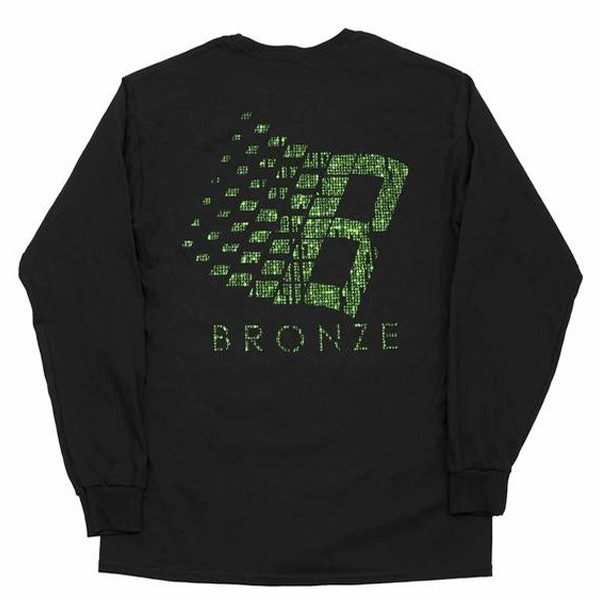 Bronze 56K B Logo Binary L/S Tee (Black)