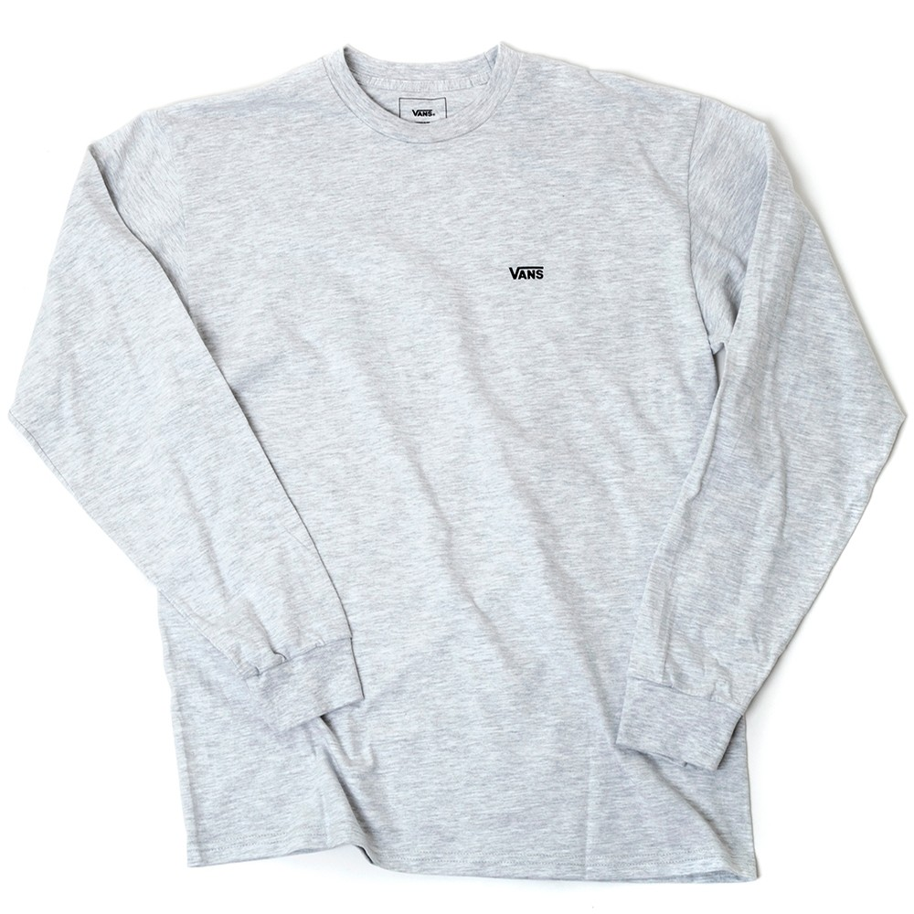Left Chest Hit L/S Shirt (Ash Heather / Black) VBU