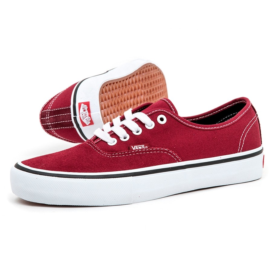 Vans Authentic Pro (Rumba Red   Port Royale) VBU Men s Shoes at Uprise 51f7ae209